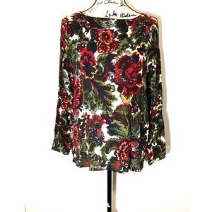 J Jill Floral Long-Sleeve Top